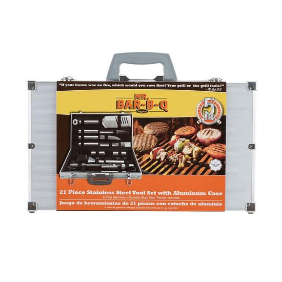 MR. BAR-B-Q Prestige Stainless Steel Tool Set -  21 pc.
