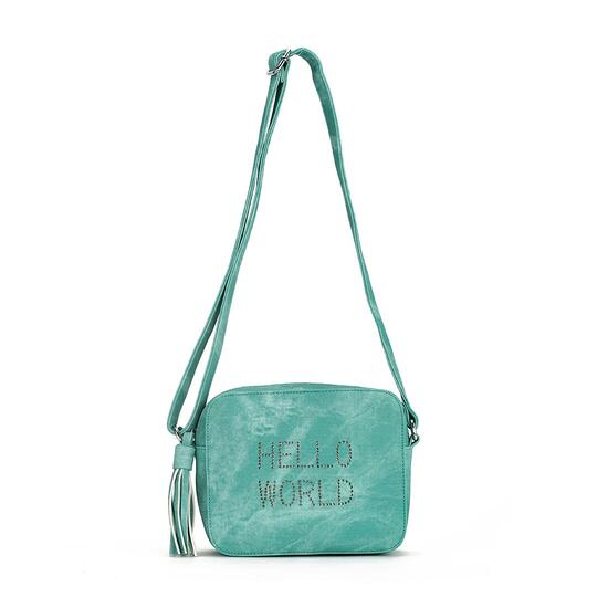 Luxanne Hello World Drum Green Side Bag
