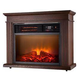 Espresso Fireplace Heater - 25in.