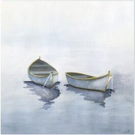 Boats on a Lake I Canvas Art - 18in. x 18in.