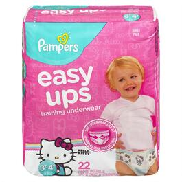 Pampers Girls Easy Ups Training Underwear 22pk. - 3T-4T