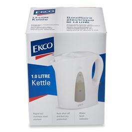 Ekco White Jug Kettle - 1L