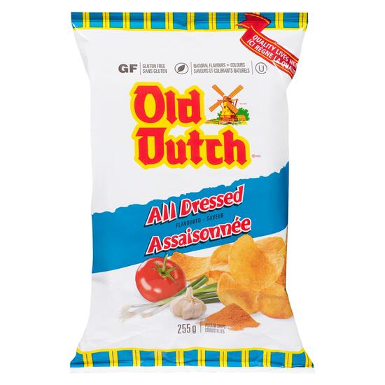 Old Dutch All Dressed Potato Chips - 255g