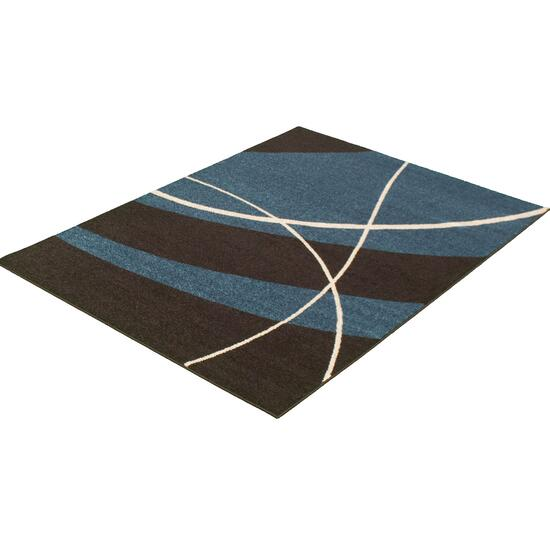 eCarpetGallery Cosi Brown Blue Area Rug
