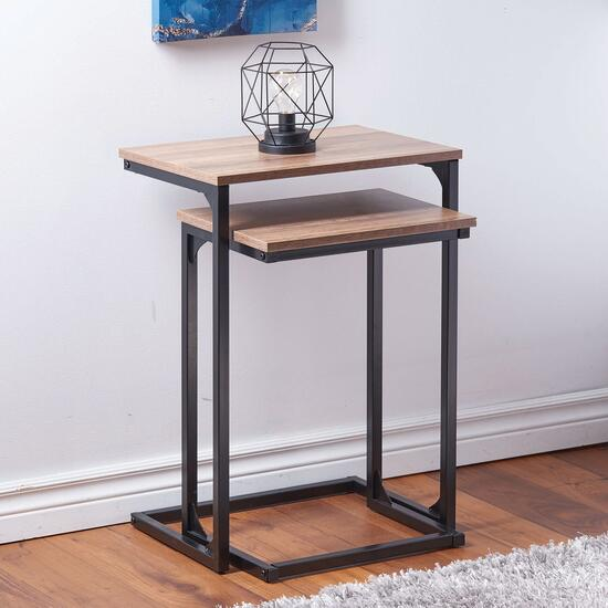 HomeStyles Dark Natural Nesting Table Set - 2pc.