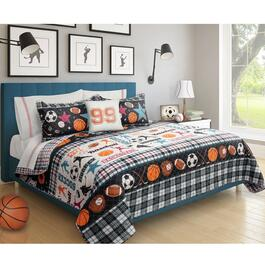 Safdie Printed All Star Black Quilt Set 2pc. - Twin