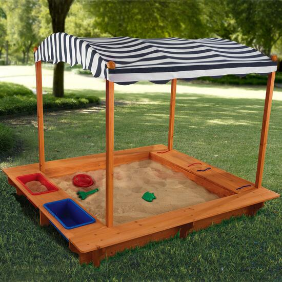 KidKraft Outdoor Sandbox with Canopy - Giant Tiger