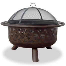 Endless Summer Deep Bronze Portable Wood Burning Fire Bowl - 35.6in.