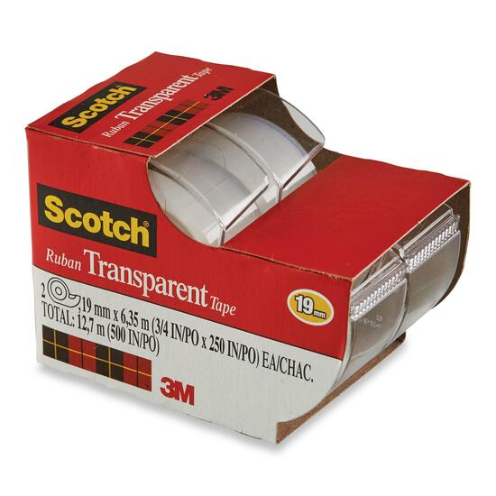 Scotch Transparent Tape - 2pk.