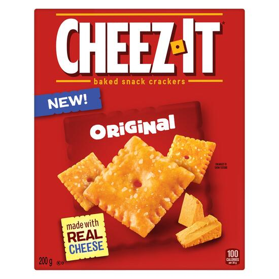 Cheez-It Baked Original Snack Crackers - 200g