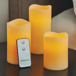 LED Remote Controlled Flameless Candle Set - 3pc.