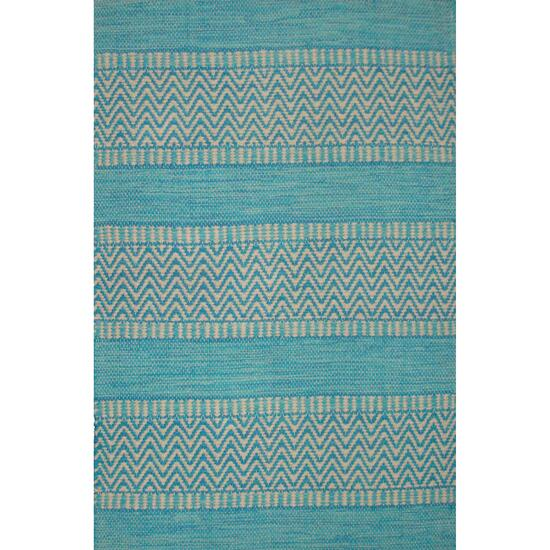 Avocado Décor Aqua Dhurrie Largo Rug - 2.3ft. x 7.9ft.