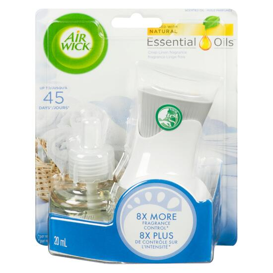 Air Wick Plug-in Crisp Linen Air Freshener Scented Oil Kit - 2pc.