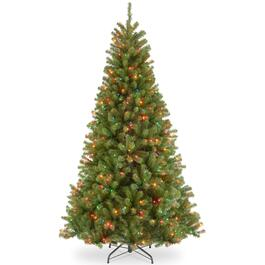 National Tree North Valley Spruce Tree with multicolour Lights -7.5ft