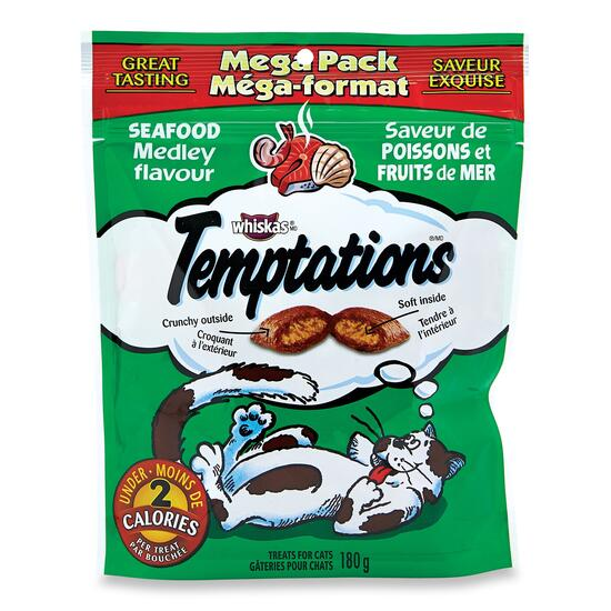 Whiskas Temptations Seafood Medley Flavour Treats -180g