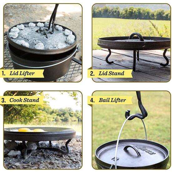 Lodge 4-in-1 Camp Dutch Oven Tool