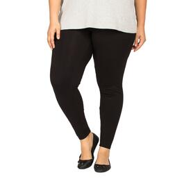 mySTYLE Women's Plus Black Leggings - 1X-3X