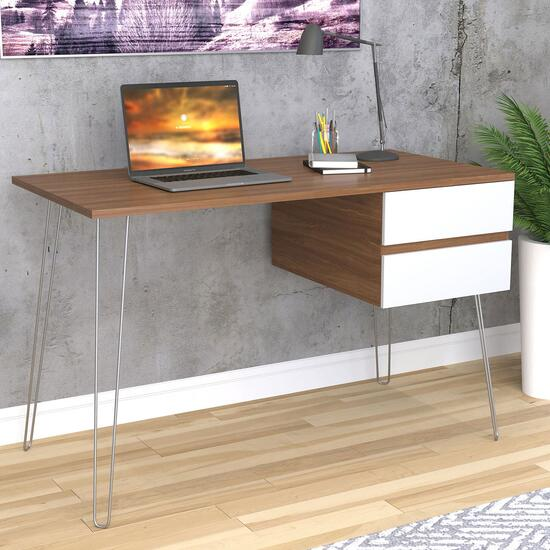 Safdie & Co. Walnut Computer Desk - 48in.