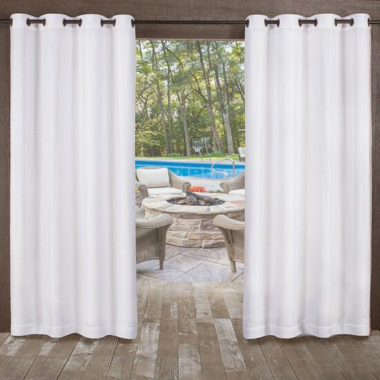 Exclusive Home Miami Textured Indoor/Outdoor Curtains 2pc. - 108in.