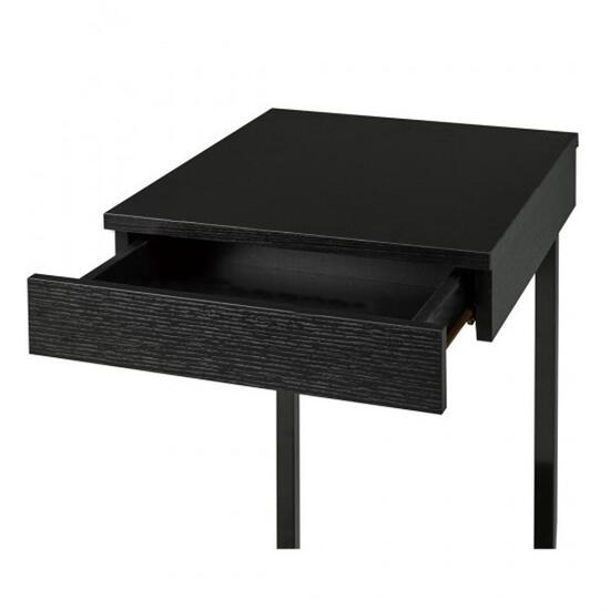 Brassex Black Laptop Stand with Storage Drawer