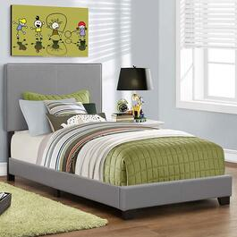 Monarch Specialties Inc. Grey Bed Frame - Twin