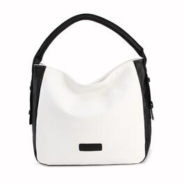 Luxanne Side Buckle Bucket Bag - Black/White
