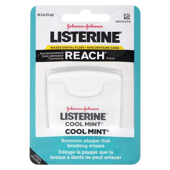 Listerine Cool Mint Waxed Dental Floss - 41.1m