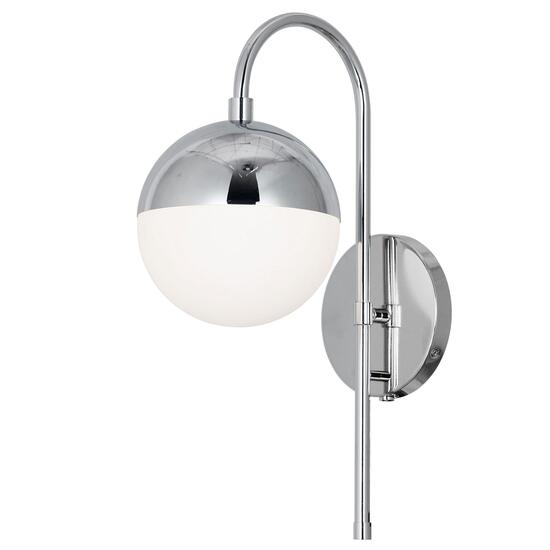 Dainolite Dayana Polished Chrome Finish Halogen Wall Sconce