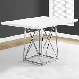 Monarch Specialties Chrome Base Dining Table