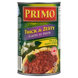 Primo Thick and Zesty Garlic and Herb Pasta Sauce - 680ml