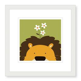 Peek-a-Boo Lion Framed Print - 19in.