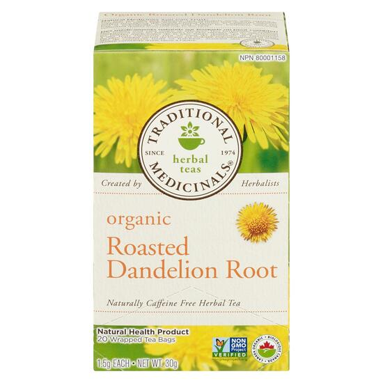 Traditional Medicinals Roasted Dandelion Root Tea - 20pk.
