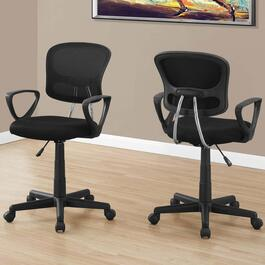 Monarch Specialties Black Mesh Mid-Back Juvenile Office Chair