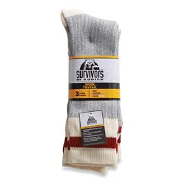 Kodiak Survivors Men's Wool Work Socks 3pk. - 7-12