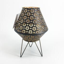 Floral Metal Lantern with Legs