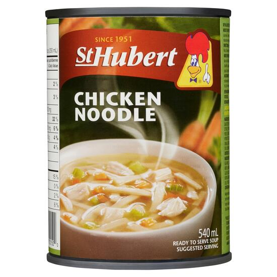 St Hubert Ready To Serve Soup Chicken Noodle - 540ml