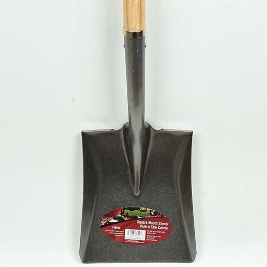 Pro Yard Square Shovel with Wood Handle - 59in.