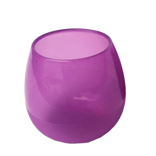 Silicone Zone Purple Drink Up Glasses - 4pk.