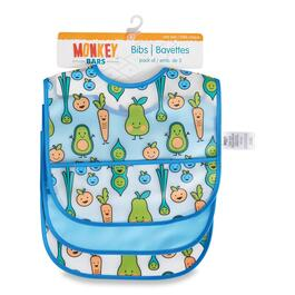 MONKEY BARS Infant Bib with Pocket - 3pk.