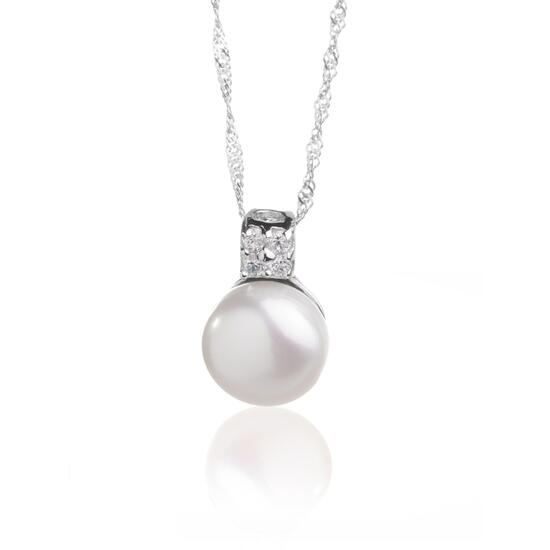 Silver & Co Pearl Necklace with Pearl