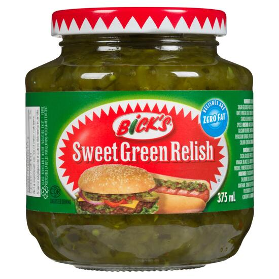 Bick's Sweet Green Relish - 375ml