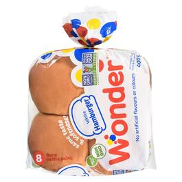 Wonder White Hamburger Buns 8pk. - 408g
