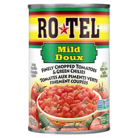 Rotel Finely Mild Chopped Tomatoes and Green Chilies - 284ml