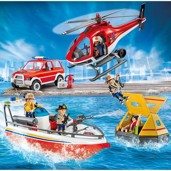 Playmobil Fire Rescue Mission Playset - 98pc.