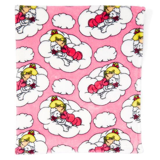 Precious Moment Pink Baby Girl Cloud Stroller Blanket