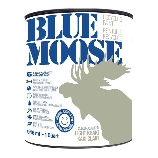 Blue Moose Khaki Recycled Paint - 0.9L