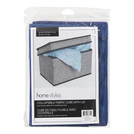 HomeStyles Collapsible Fabric Cube Organizer With Lid