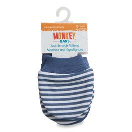 MONKEY BARS Anti-Scratch Blue Baby Mittens - 2pk.