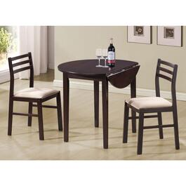 Monarch Specialties Cappuccino Elm Dining Set - 3pc.