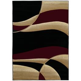 Segma Contours Collection Avalon Rug - Burgundy
